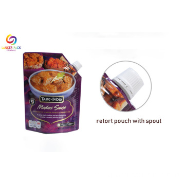 Custom Packed Plast Liquid Packaging Spout Pouches