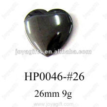 Hematite 26MM Heart Pendants