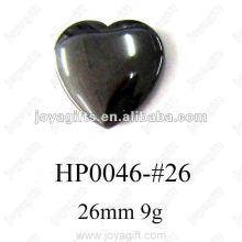 Pingentes Coração Hematita 26MM