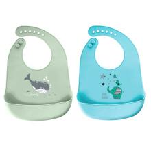 Baberos de silicona impermeables de grado alimenticio para baberos de bebé