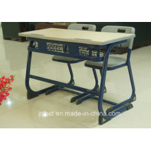Hot Selling Plastic Double Studend Desk and Chair Set