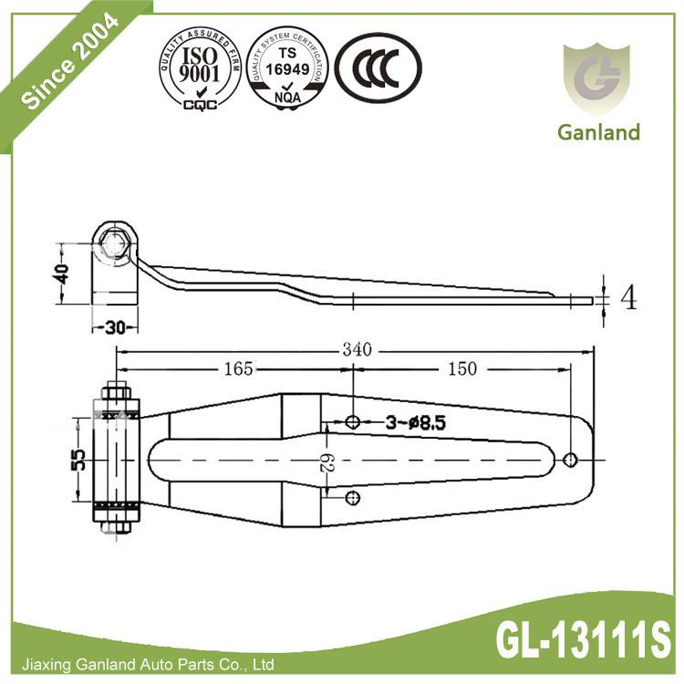bolt on Hinges GL-13111s
