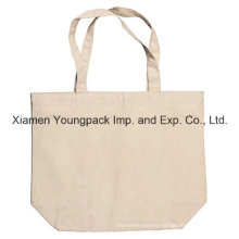 Short Handle Reusable Custom Logo Printed Natural Tote Cotton Bag