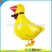 Projeto de novidade Walking Pet Balloon Toy Foil Balloon Duck para presente infantil
