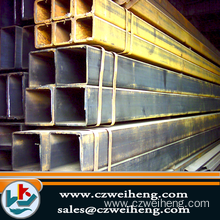 ASTM AISI Black Square Steel Pipe / Tube 201 1Cr17..