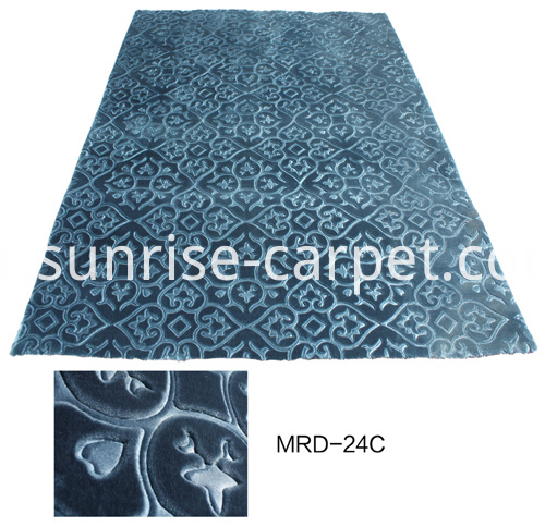 Embossing Carpets With Blue
