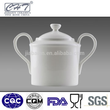 Fine bone china ceramic sugar bowl sugar pot with two hands