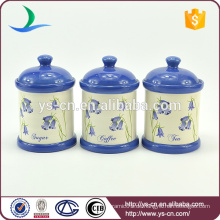 Keramik China Lieferant Kanister Set von 3 Stück