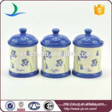 Cerâmica China Fornecedor Set Canister De 3 Pcs