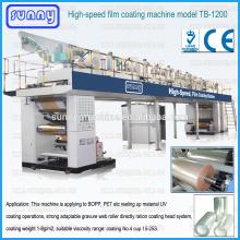 Conjunto completo de modelo de máquina de revestimento adesivo motor SERVO TB1200 com rendimento elevado
