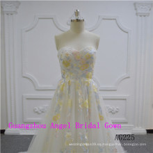 Vestido de novia sin tirantes sexy