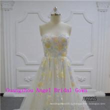 Сексуальный Дизайн Без Бретелек Свадебное Платье
