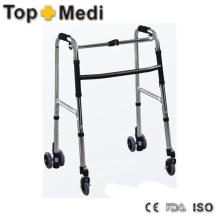 Roller de la serie de la ayuda de la caminata de la barra doble con el marco de aluminio