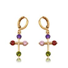 91903 Boucles d'oreilles pendantes en zircon synthétiques pour femmes de mode haute qualité xuping