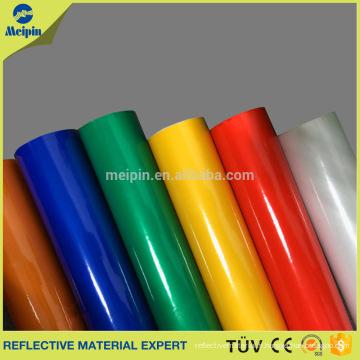 Blanc, rouge, jaune, vert, bleu, noir Couleur Vinyle réfléchissant auto-adhésif