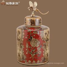 home table decor high quality holiday decoration antique Chinese red vase