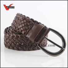 Hot Sale Dark Brown Jean Braided Belts