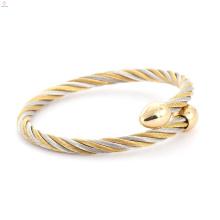 Brazalete astrológico de la pulsera ajustable del cable del pun ¢ o del color plata de oro al por mayor