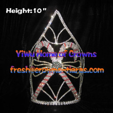 10inch Candy Cane Crystal Crowns