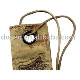 Bag eyelet put on the paper label,Wholesale eyelets drawstring bag.