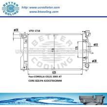 Selbstmaschinen-Heizkörper für Toyota Corolla CE121 2005 Soem: 164006A290