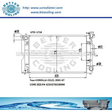 Radiador De Alumínio Para Toyota Corolla CE121 2005 OEM: 164006A290
