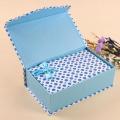Boîte cadeau en papier imprimé avec Robbin pour cosmétiques