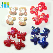phone case decoration rabbit shape flat back plastic beads