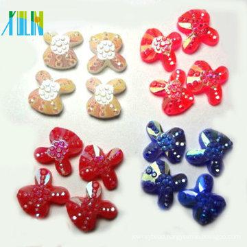 phone case decoration rabbit shape flat back plastic beads