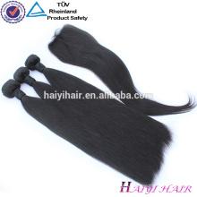 Новое пришествие химической свободной необработанные 4 пучки Перуанский прямые волосы 9А