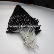 extensiones dobles del pelo remy micro del bucle dibujado # 1 queratina pelo pre-consolidado del color negro