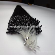 extensões desenhadas dobro do cabelo do laço do micro laço # 1 cabelo preto pre-ligado queratina da cor