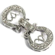Moda cadeado jóias fecho conector acessório conexão fingings cadeado