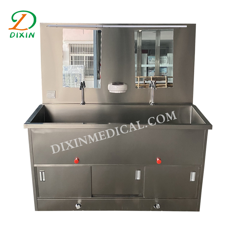 Hospital stainless steel sink