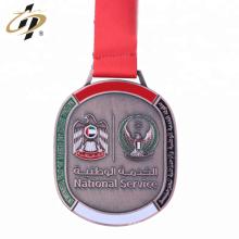 Medalla deportiva Jitsu de bronce de metal de los Emiratos Árabes Unidos personalizada con diseño propio