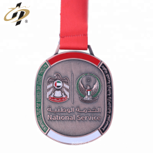 Custom UAE metal bronze Jitsu sports medal with own design