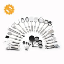 23 peças personalizado rótulo aparelhos de cozinha ferramenta de cozimento de aço inoxidável