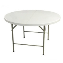4FT Plastic Round Folding Table for 6 Person Used
