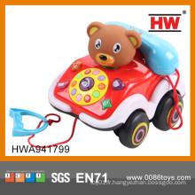 Nouveaux jouets pour bébés 2015 téléphone à musique électrique en plastique