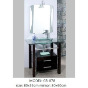 Glass basin/MDF cabinet/wooden furniture