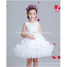une pièce bébé fille partie porter coréen fille robe en dentelle robe de conception pour la fête et la performance
