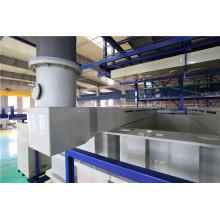 Sistema de exaustão de ar da linha de produção de galvanoplastia