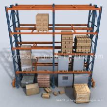 Prateleiras de paletes de aço de carga pesada ajustáveis Prateleiras de rack de armazenamento