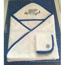 Toalla de baño con capucha del bebé de la nieve-mundo del mundo con la toalla, bambú orgánico 100% natural, súper suave y absorbente, el mejor regalo de la ducha