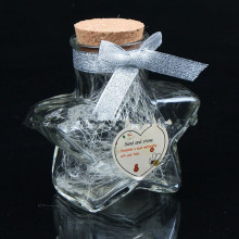 Star-Shape Glass Candy Jar, Glass Wishing Bottle