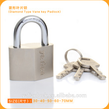 High Security Nickle Plated Diamond Type Vane Key Padlock