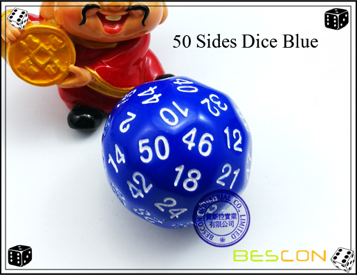 50 Sides Dice Blue