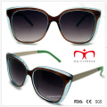 Ladies Double Color Sunglasses with Metal Temple (WSP508293)