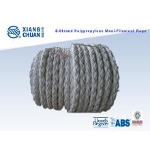 Corde d'amarrage en polypropylène 8 brins 64mm longueur 220m