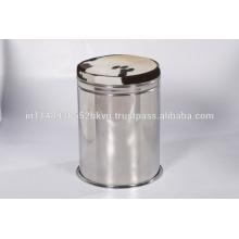 Leather & Steel Stool